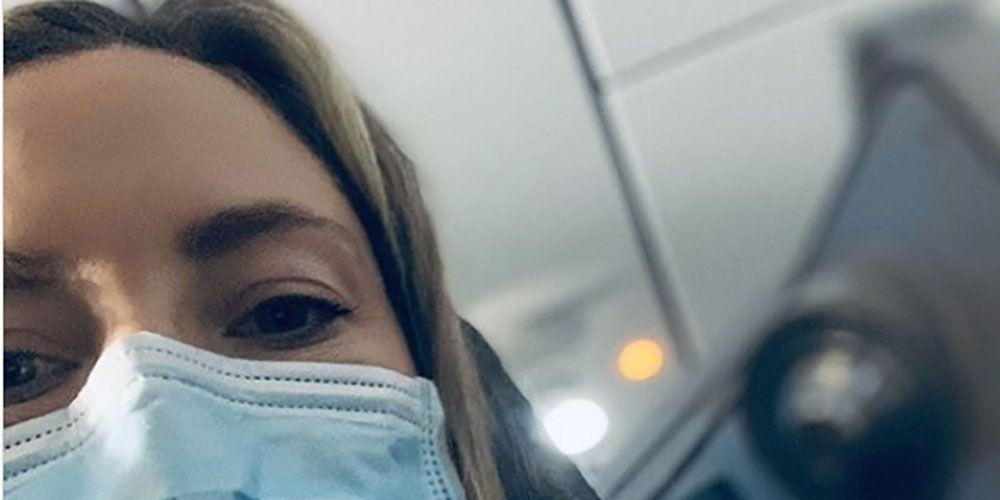 Kate Hudson med munnmaske